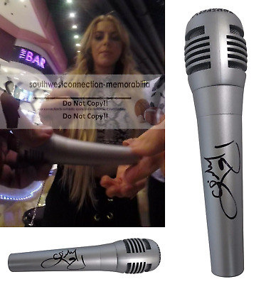 Country Lindsay Ell Signed Autographed Microphone Mic Continuum Project Proof