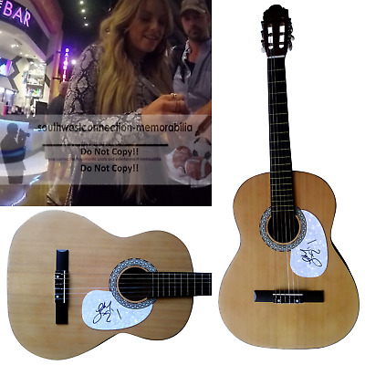 Country Lindsay Ell Signed Autographed Acoustic Guitar Proof Photo The Project