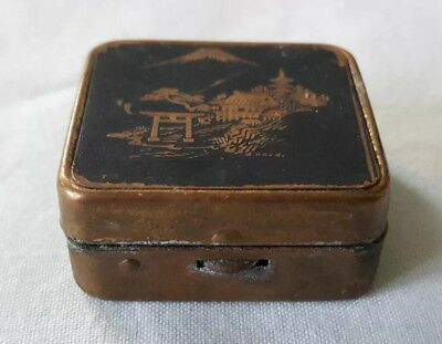 Antique Oriental Miniature Lidded Ashtray