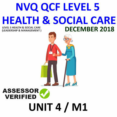 Unit 4 / M1 Nvq Qcf Diploma Level 5 Leadership Health And Social Care Help