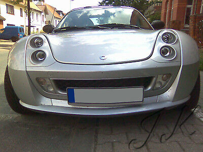 Fits Smart Roadster - Front Lip Bumper Spoiler Diffuser Add On