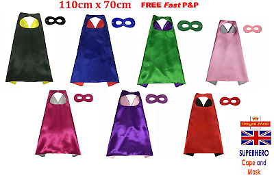 Adult Superhero Cape and Mask Men / Women Fancy Dress Costume Set Stag Hen Party