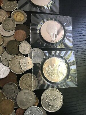 World coins 5 pounds,great selection!! Lot#31