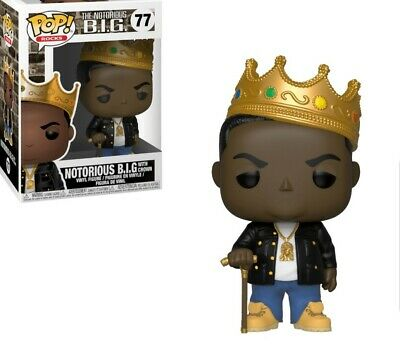 NOTORIOUS B.I.G with Crown funko pop #77 funko pop Vinyl