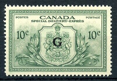Weeda Canada EO2 VF MNH 10c green Special Delivery, G Official overprint CV $36