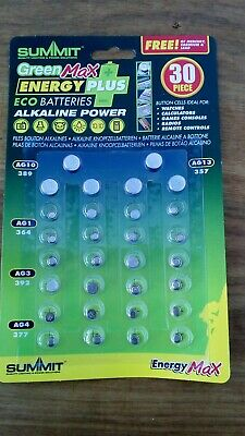 30 mixed button cell batteries AG13 AG10 AG4 AG3 AG1 ALKALINE Watch battery pack