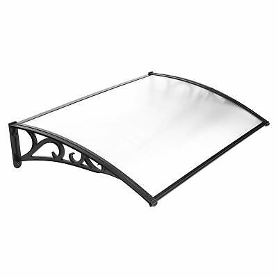 Door Canopy Awning Shelter Window Front Back Rain Cover Outdoor Porch 120*80 CM