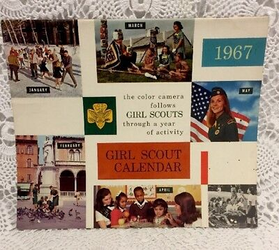 Vintage Girl Scout Calendare 1967 Girl Scouts Of The USA