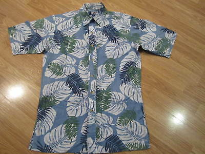 0c6a1b6c Mens Size S Small ONO Liberty House Hawaiian Leaves Button Up Short Sleeve  Shirt