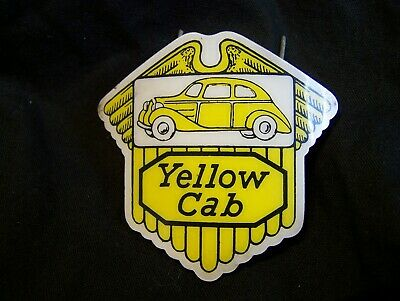 e468d2138e73f VINTAGE YELLOW CAB Driver Truck Driver Hat Badge and pins -  495.00 ...