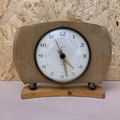 Vintage Smiths Sectronic Mantle Clock - Battery Powered - 22 x 17cm - Wood Frame
