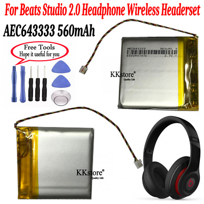 eb38c7a51c8 560mAh AEC64333 Battery Replacement for by Dr. Dre Studio 2.0 Headphones