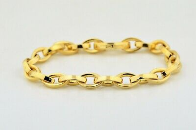 fa4194fd7 Tiffany & Co 18K Yellow Gold Oval Link Bracelet 7.5 Inches 26.7 Grams Italy