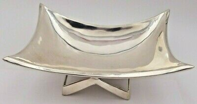 Mid Century Modernism 925 Sterling Silver Candy Dish Made in Mexico #6403