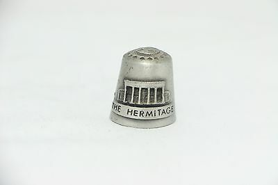 """""""The Hermitage"""" """"Home Of Andrew Jackson"""" Pewter Thimble"""