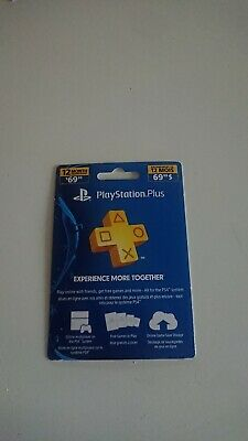 PlayStation Plus 1 Year 12 Month Membership Code PS3 PS4 Canada USA