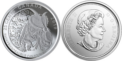 2019 Dinosaur of Canada 25-Cent Coin: Pachyrhinosaurus Canadensis