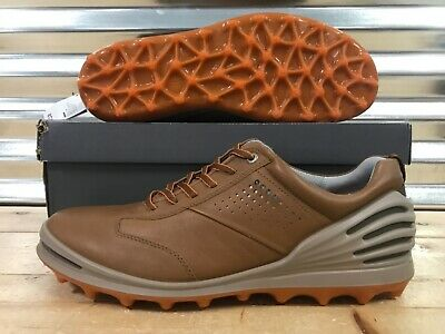 9fafe766dc3cb ECCO Golf Cage Pro Golf Shoes Spikeless Camel Brown Leather SZ ( 133004  01034 )