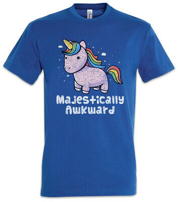 Unicorn Awkward T-Shirt Unicorns Geek Nerd Fun Rainbow Fairies Fairy