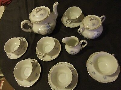 Zsolnay Tea Set for Six from 1930s in Very Good Second Hand Condition