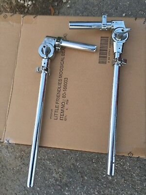 Free P&P. Genuine Pair of 22mm Pearl Style Tom Arms for Drum kit. GPTA81022