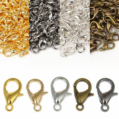 50pc Metal Lobster Fasteners Claw Clasp Hook Clip Buckle Necklace Jewelry Making