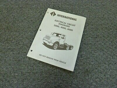 1997 international 4600 4700 4800 4900 truck electrical wiring diagrams  manual