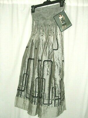 50a0e3d42a New Lapis Woman Anthropologie Tube Convertible Dress Skirt Gray Black One  Size