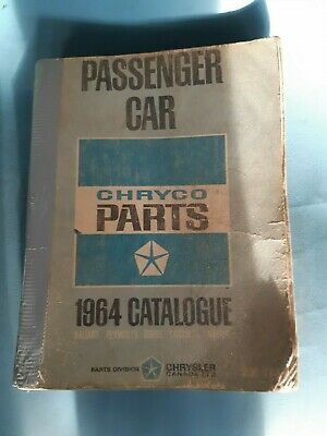 1964 Mopar Chrysler Dodge Plymouth Imperial Parts Catalog Catalogue Manual Book