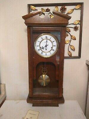 Hamilton lancaster county 8 day Wall Clock - solid maple and burled elm veneer