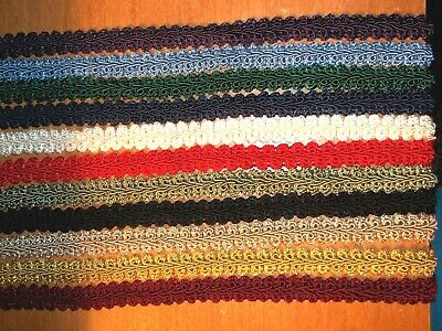 "~1yd x 1/2"" Braided French Gimp Trim Ribbon Scrapbook Wedding Upholstery Sewing"