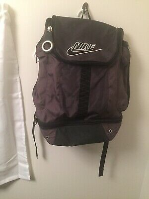4bd4afdc2 Nike XL Black Gray Backpack Bag W/lock Casual Hiking Fitness Sports Outdoor