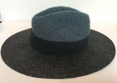 b6fa4d25 NEW_ANTHROPOLOGIE BETTINA WOOL Rancher Hat_Blue Gray_Size M_Packable ...