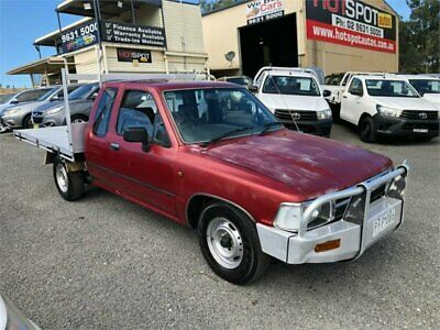 1995 Toyota Hilux RN90R DX Red Manual 5sp M Utility