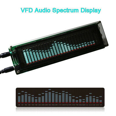 VFD Music Audio Spectrum Analyzer 25 Bands Spectrum Graphic Equalizer VU Meter