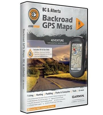 Garmin BC and Alberta Backroad GPS Maps Micro SD Card. New Factory Sealed
