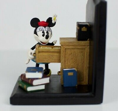 Vintage Disney~ Minnie Mouse At The Office~Wdw Bookends Walt Disney