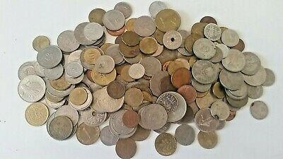 Bulk mixed world coins 730 grams