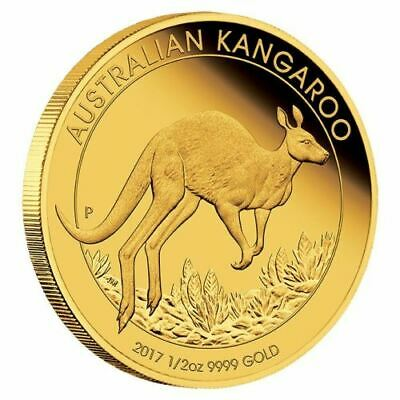 1/2oz Perth Mint Kangaroo Minted Coin Gold 2017