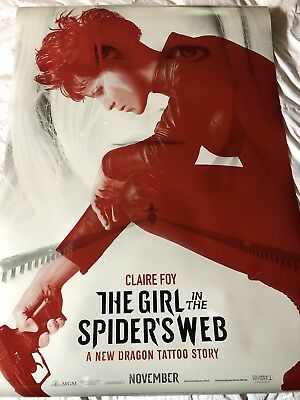 The Girl In The Spiders Web Theatrical Poster DS 27x40 near mint Brand New