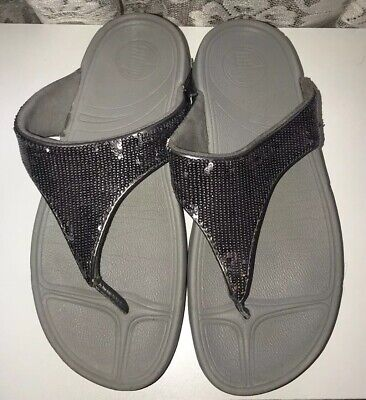 dc9b284ba  15.80 Buy It Now 12d 18h. See Details. FITFLOP ELECTRA Silver Sequin Thong  Walking Sandals Women s Size 8