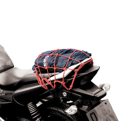 Oxford Filet Utilitaire Crochet Bagage Moto Toile Rouge Ox664 T