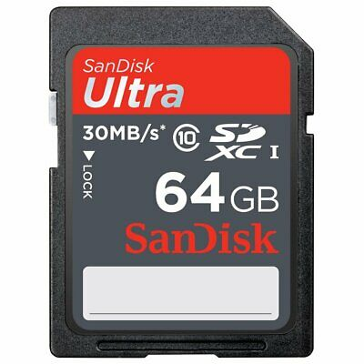 64GB Sandisk  Class 10 Ultra UHS-I SD 30MB/s Full HD Video SDXC Memory Card
