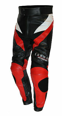 Kc310 Pantalon moto cuir S-EDITION rouge