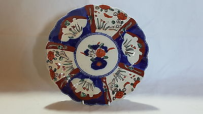 Red & blue Imari design vintage Victorian Japanese Meiji period antique plate C