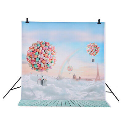 Andoer 1.5 *2m Photography Studio Backdrop Ballons Rainbow Blue Sky Pattern T5A8