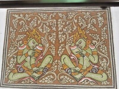 SAND PAINTING - FROM BAGAN IN BURMA (MYANMAR)  LATE 20th CENTURY