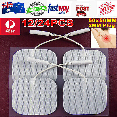12x Tens Machine Massagers Replacement Electrode Pads Gel Self Adhesive Reusable