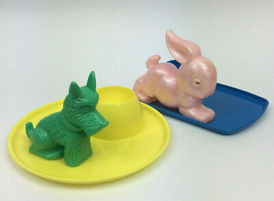Retro Egg cup's - Scottish Terrier and Rabbit - Made in Australia