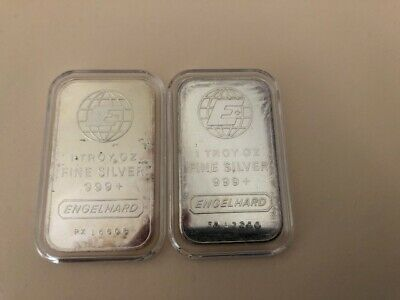 2 x 1 OZ Englehard Bars